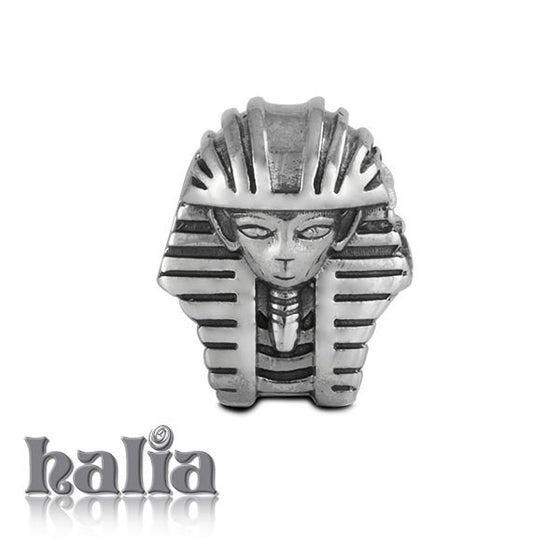 Pharaoh's Mask -  Sterling Silver Bead