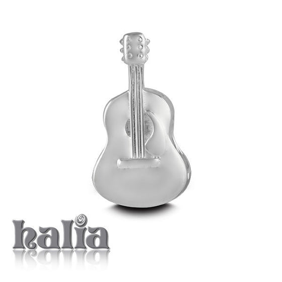 Guitar -  Sterling Silver Bead