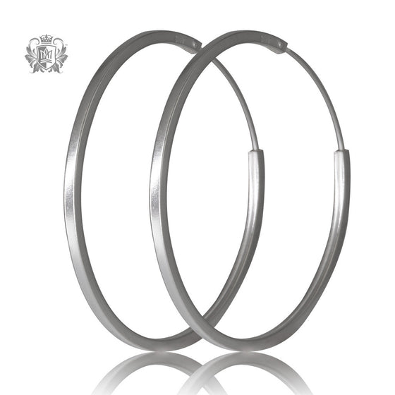 Metalsmiths Sterling Silver Square Hoops - Large, front
