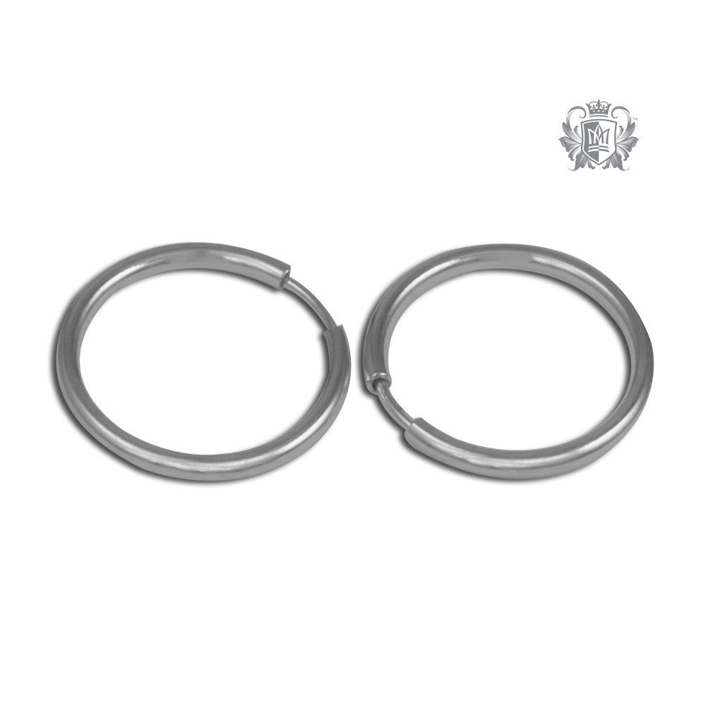 Classic Sleeper Hoops - Sterling silver / 14mm Hoop Earrings - 5
