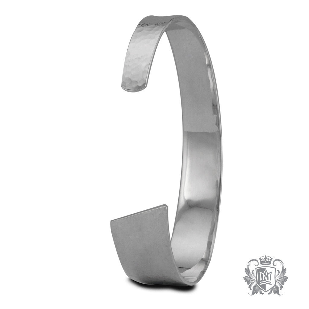 Tapered Hand Hammered Cuff -  Bracelets - 4
