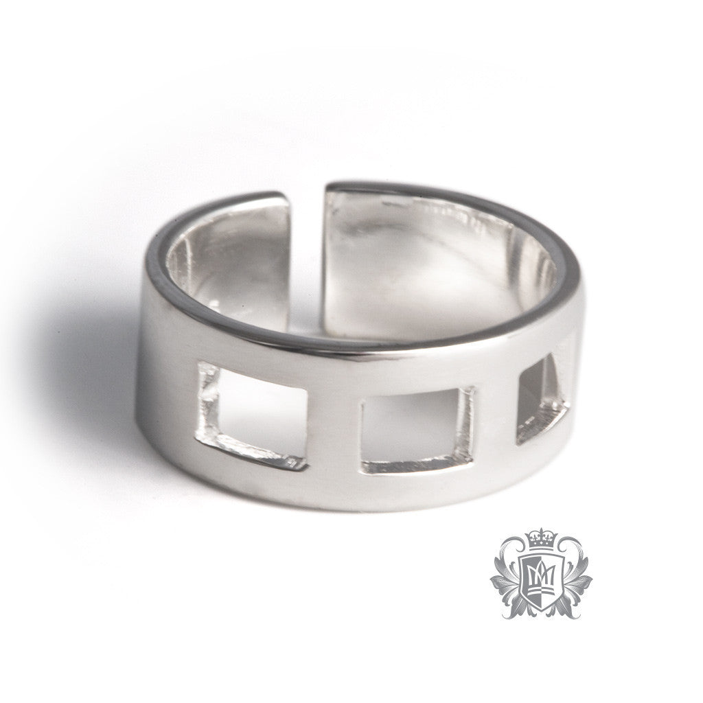 Square Pattern Toe Ring -  Body Jewelry