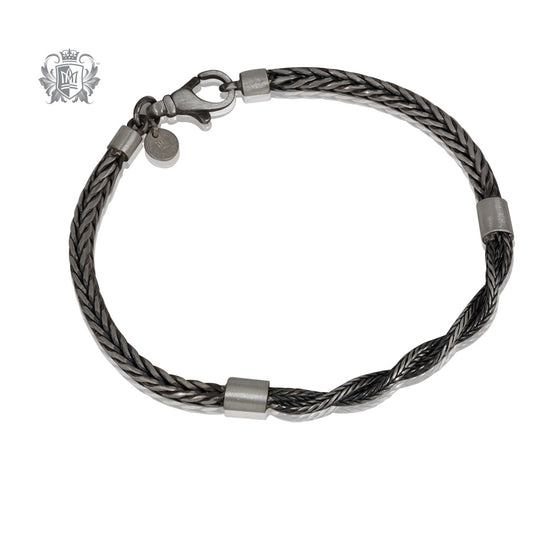 Street Finish Twisted Foxtail Bracelet
