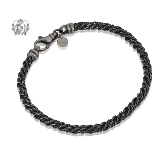 Street Finish Twisted Rover Link Bracelet