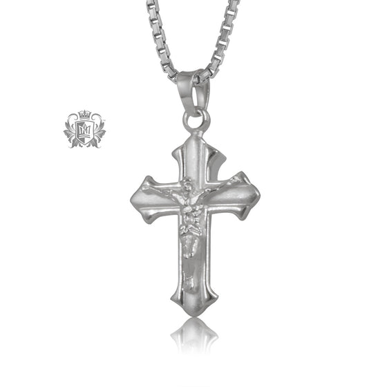 Brushed Crucifix Pendant