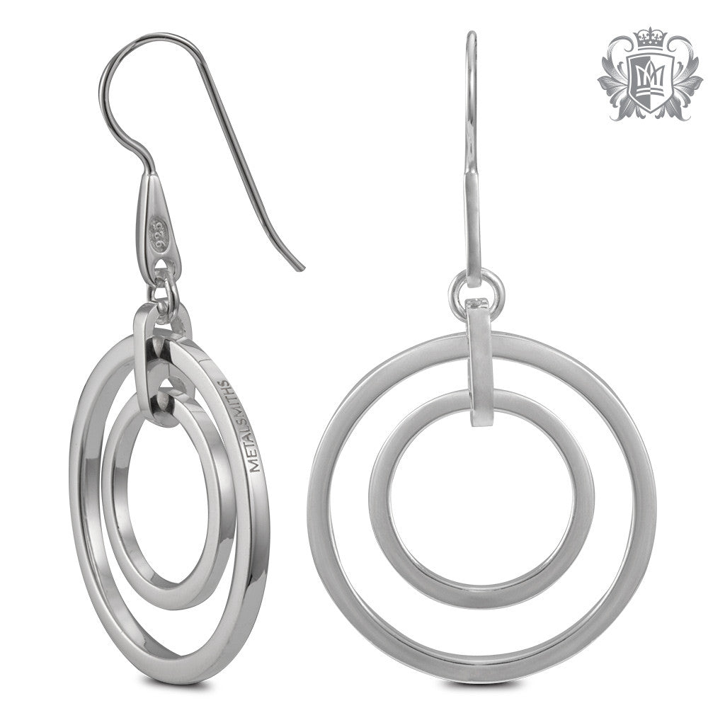 Metalsmiths Sterling Double Loop Hanger Earrings