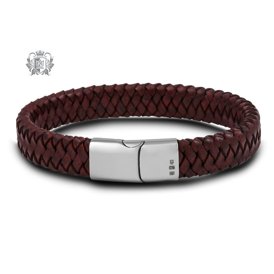 Flat Braided Leather Bracelet with Stainless Steel Clasp - Metalsmiths Sterling™ Canada