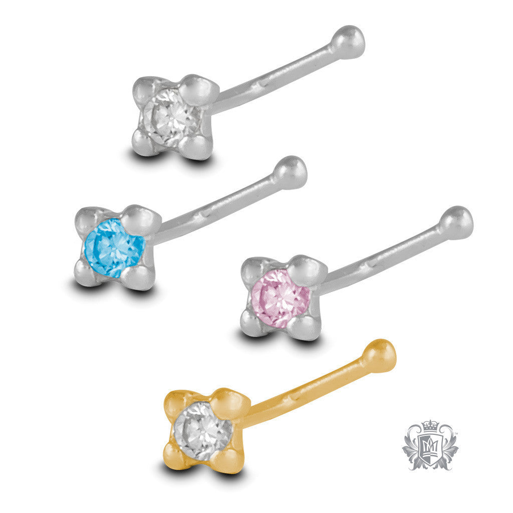 Sparkling Nose Bone Stud -  Body Jewelry - 1