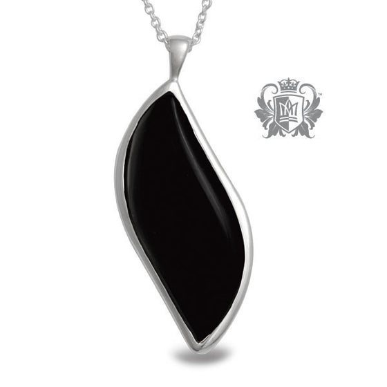 Freeform Pendant - Black Onyx, Labradorite - Black Onyx / 18 inch chain Gemstone Pendants - 2