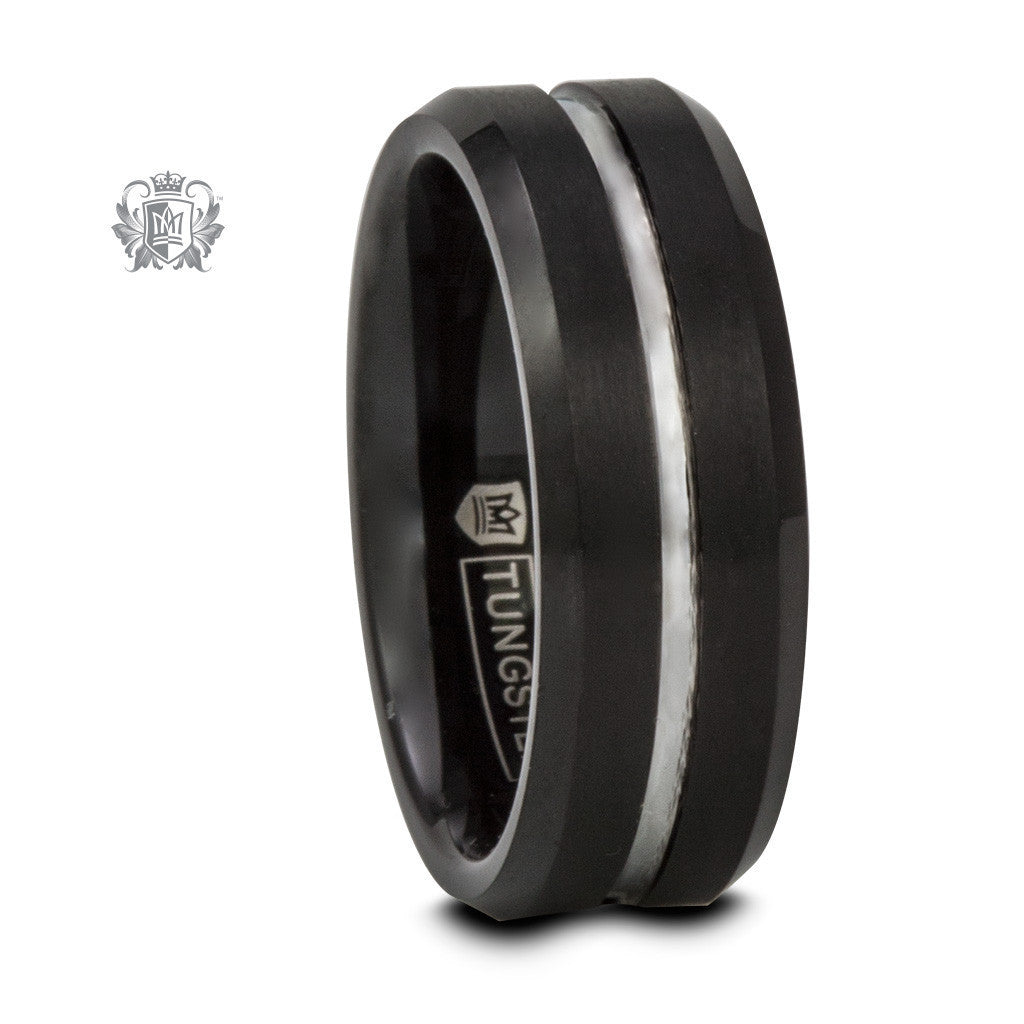 Black Tungsten Grooved Band - Metalsmiths Sterling™ Canada