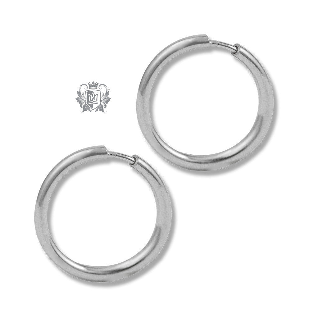 Classic Sleeper Hoops - Sterling silver / 10mm Hoop Earrings - 2