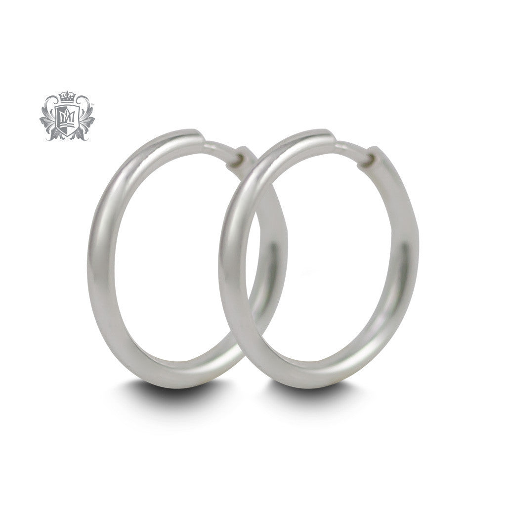Classic Sleeper Hoops - Sterling silver / 12mm Hoop Earrings - 4
