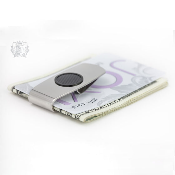 Stainless Steel Money Clip with Carbon Fibre Accent -  Money Clip - 1