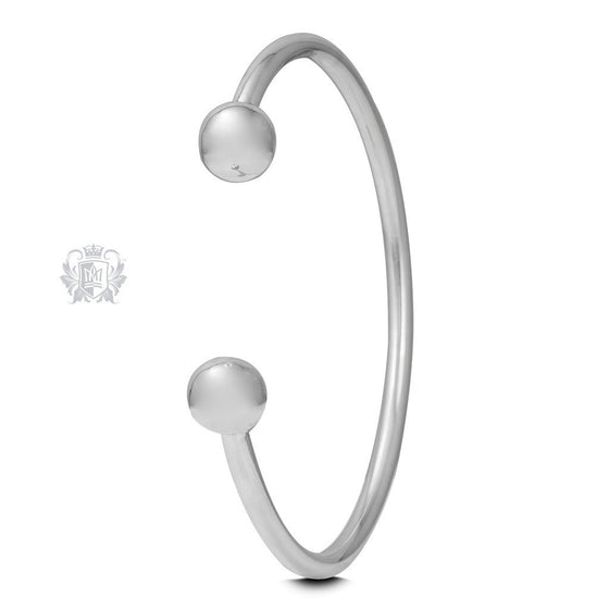 Large Spheres Cuff Bangle -  Bracelets