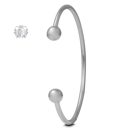 Small Spheres Cuff Bangle -  Bracelets