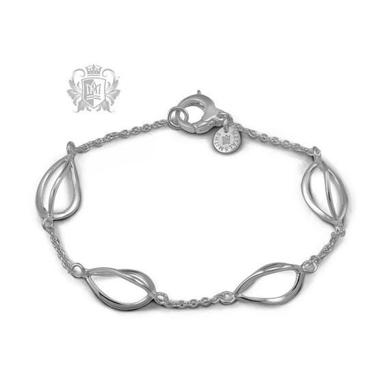 Twisted Tulip Link Bracelet - Metalsmiths Sterling™ Canada