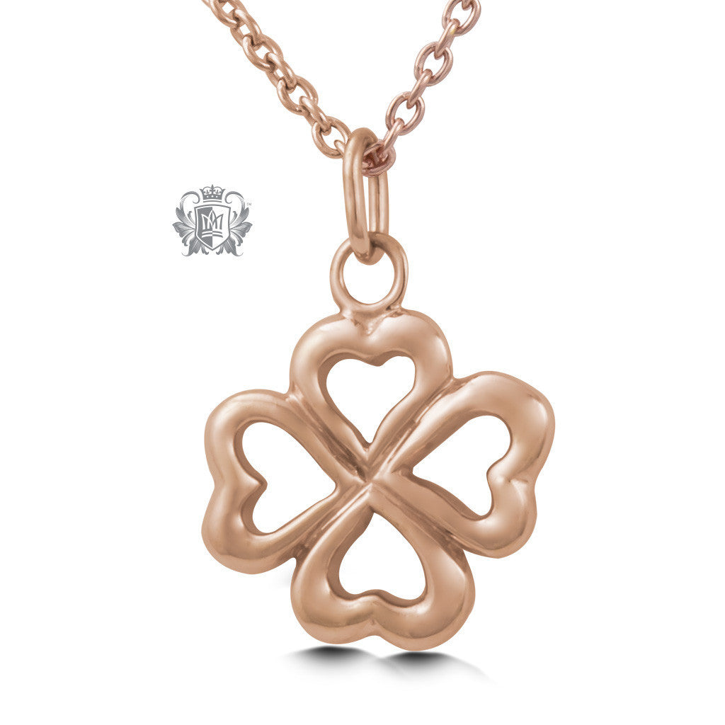 Lucky Pendant - Rose gold dipped sterling silver Necklaces - 3
