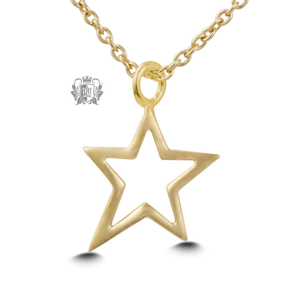 Star Pendant - Gold dipped sterling silver Necklaces - 3