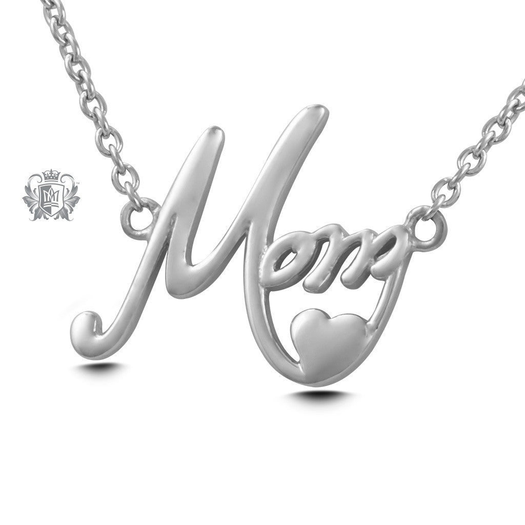 Mom Pendant - Sterling silver Necklaces - 2