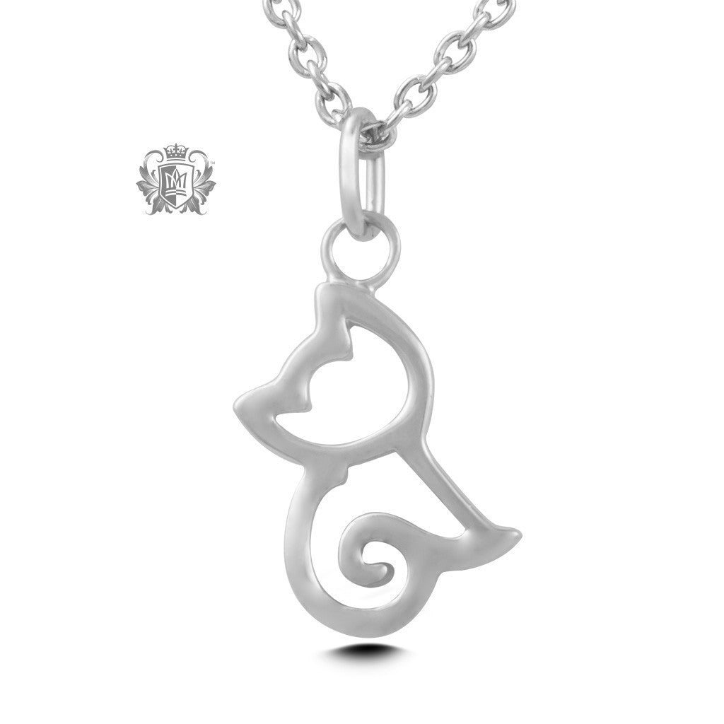 Cat Pendant - Sterling silver Necklaces - 2