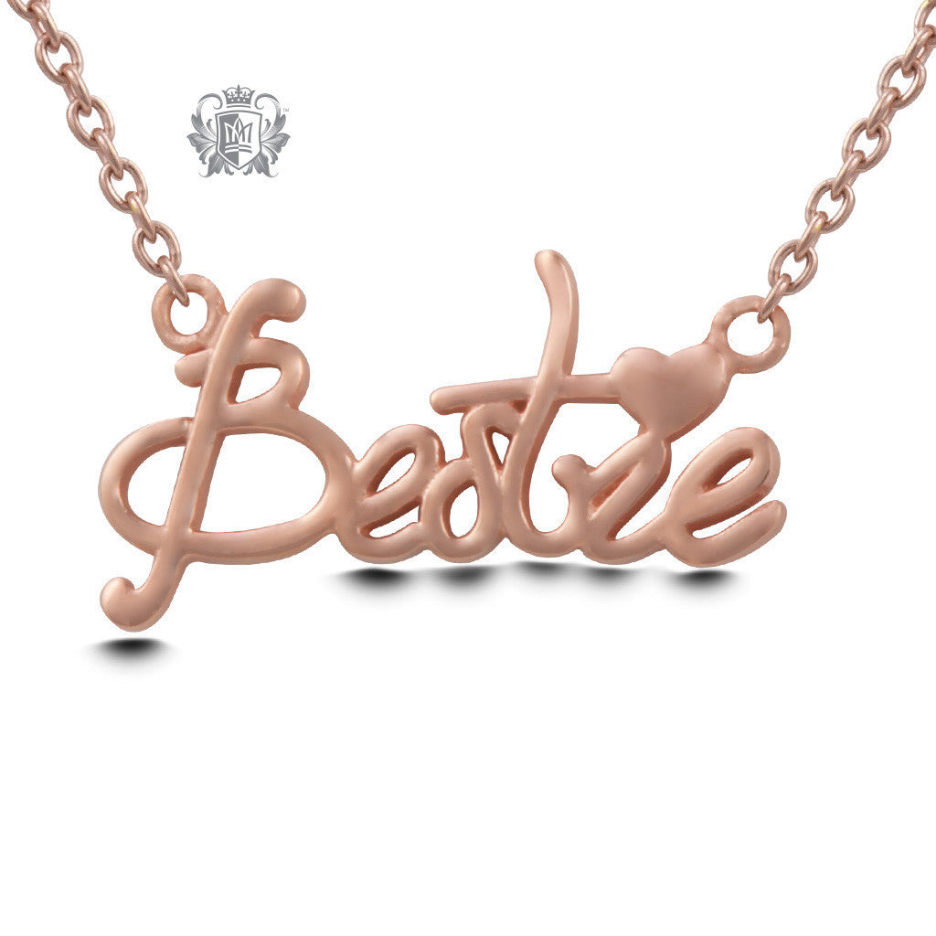 Bestie Pendant - Rose gold dipped sterling silver Necklaces - 3