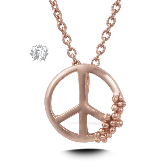 Rose Gold Dipped Peace Pendant (Special Edition) -  Necklaces - 1