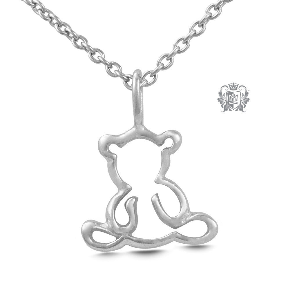 Teddy Bear Pendant - Sterling silver Necklaces - 2