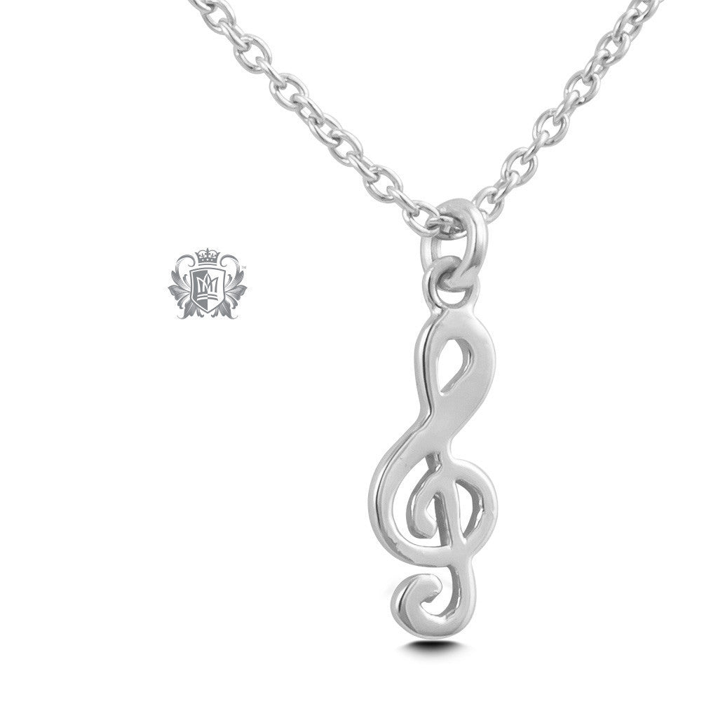 Treble Clef Pendant - Sterling silver Necklaces - 2