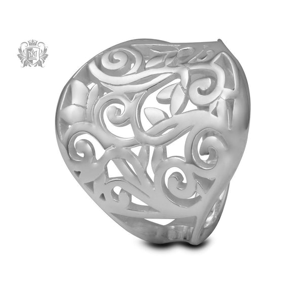 Flower Scroll Ring - Metalsmiths Sterling™ Canada