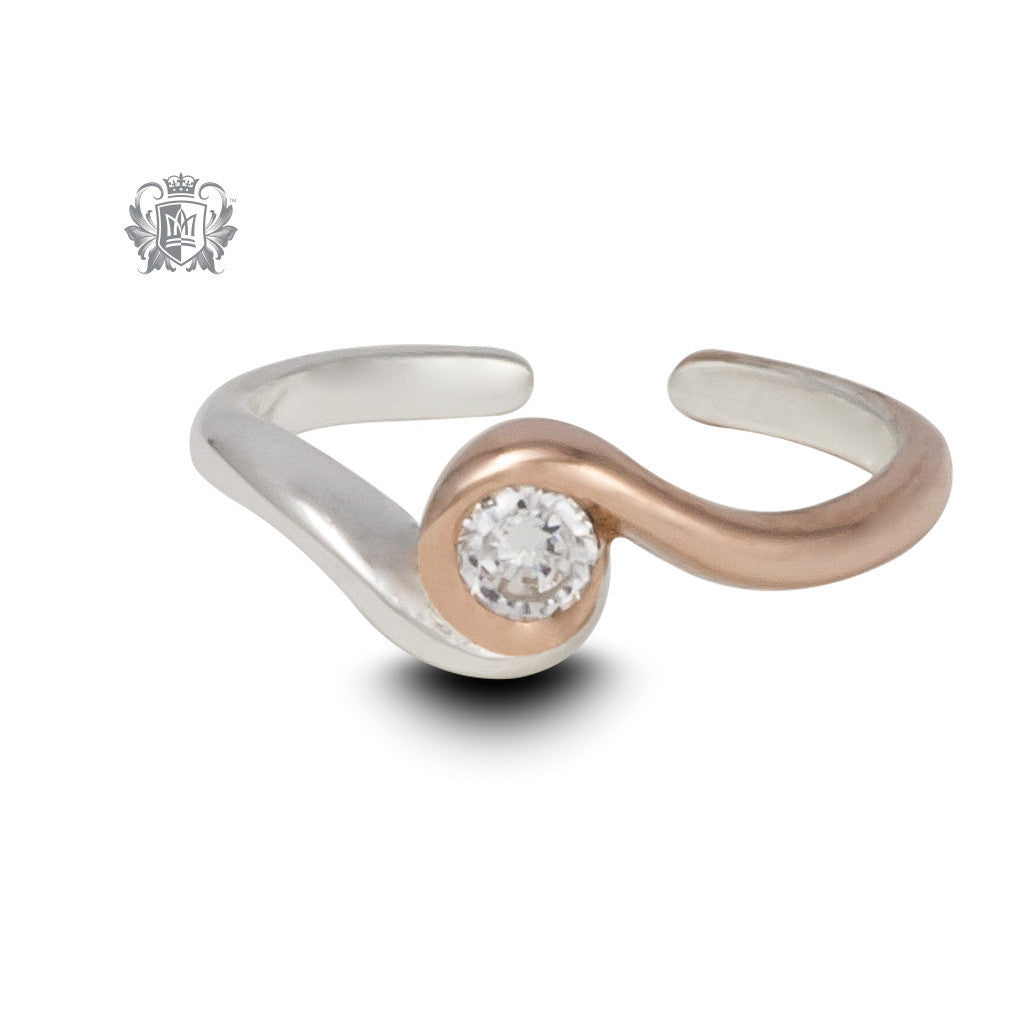 Rosy Sparkle Toe Ring -  Body Jewelry