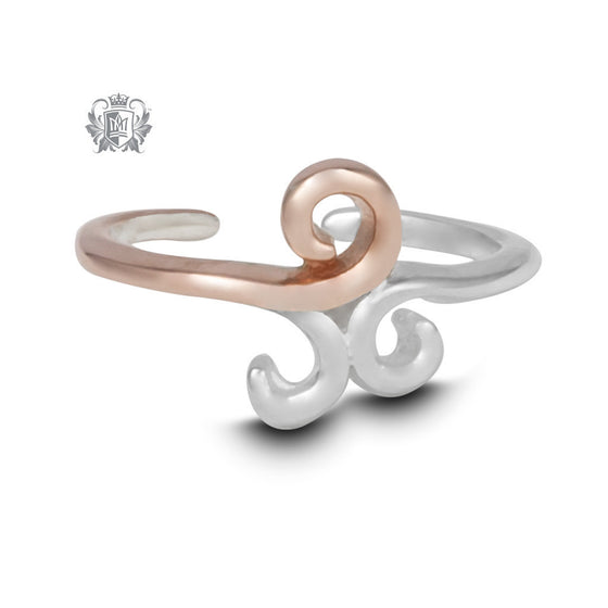 Triple Twirl Toe Ring -  Body Jewelry