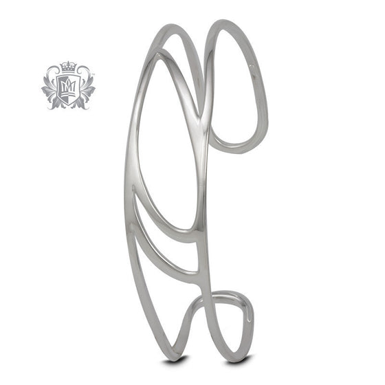 Modern Petal Cuff Bangle - Metalsmiths Sterling™ Canada