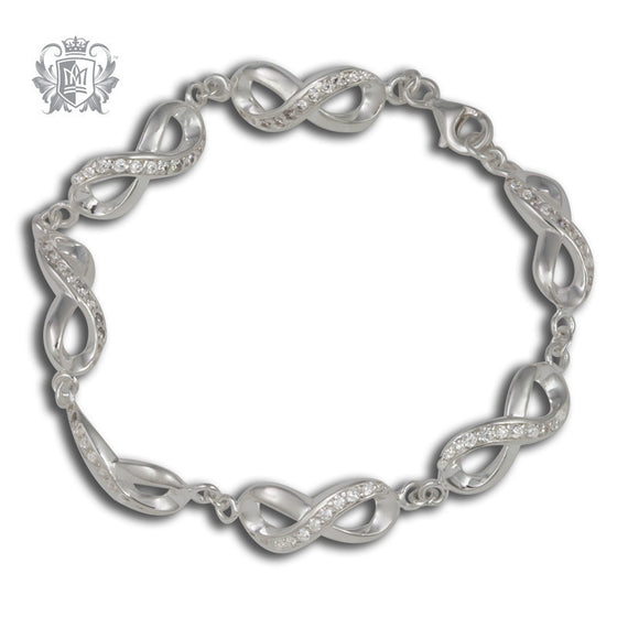 Eternal Loop Cubic Station Bracelet -  Gemstone Bracelets