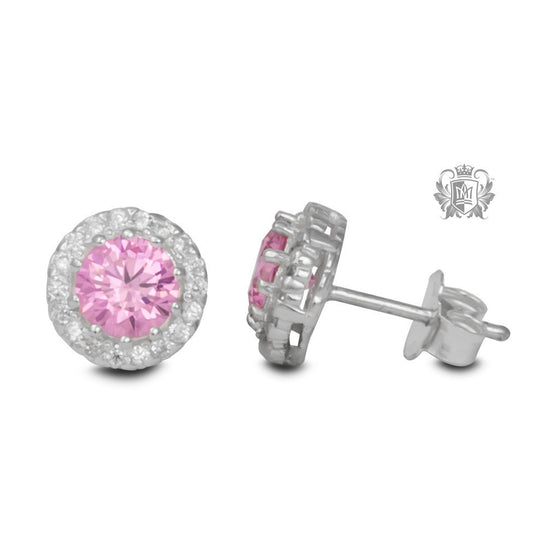 Pink Pop Stud Earrings -  Gemstone Earrings