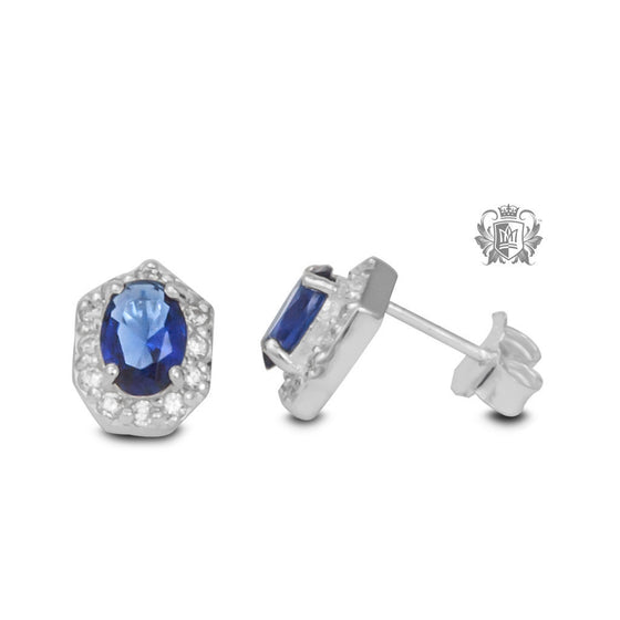 Cerulean Dreams Stud Earrings -  Gemstone Earrings