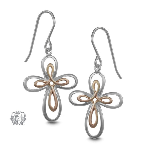 Celtic Cross Hanger Earrings -  Earrings