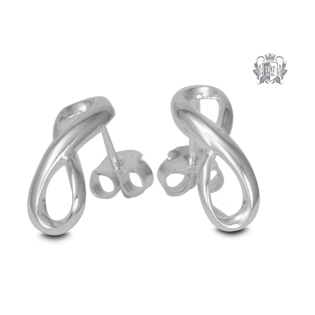 Eternal Loop Stud Earrings - Metalsmiths Sterling™ Canada