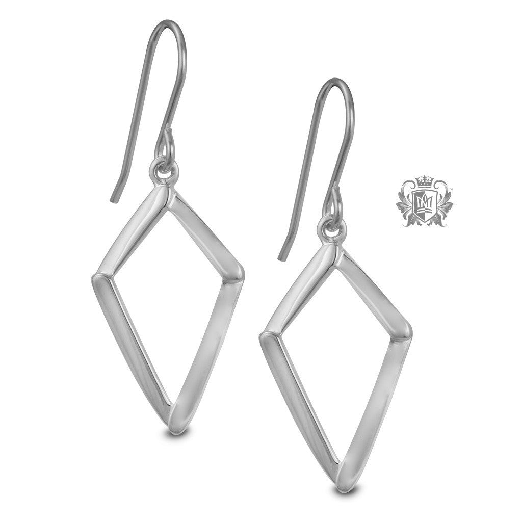 Diamond Shaped Hanger Earrings - Metalsmiths Sterling™ Canada