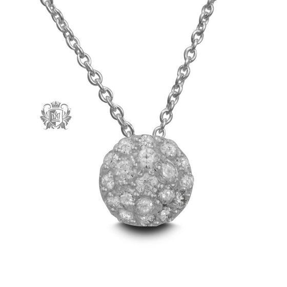 Pavé Cubic Dome Slider Necklace -  Gemstone Pendants
