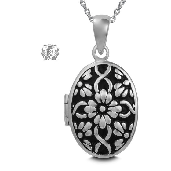 Daisy Pattern Locket -  Pendants - 1