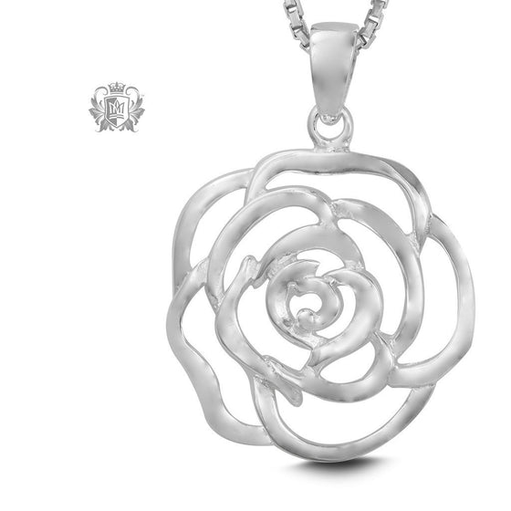 Large Rose Pendant - 18 inch chain Pendants - 1