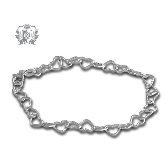 Small Heart Link Bracelet - Metalsmiths Sterling™ Canada