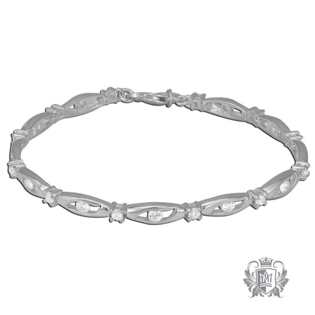 Channel and Prong Cubic Bracelet - Metalsmiths Sterling™ Canada