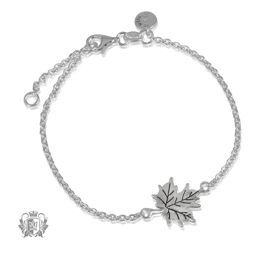 Natural Maple Leaf Bracelet Metalsmiths Sterling Silver