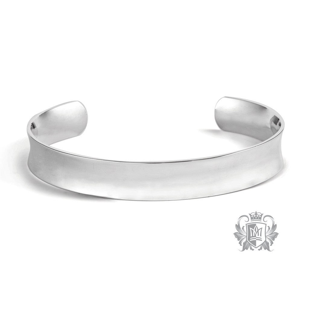 Anticlastic Cuff Bangle - Metalsmiths Sterling™ Canada
