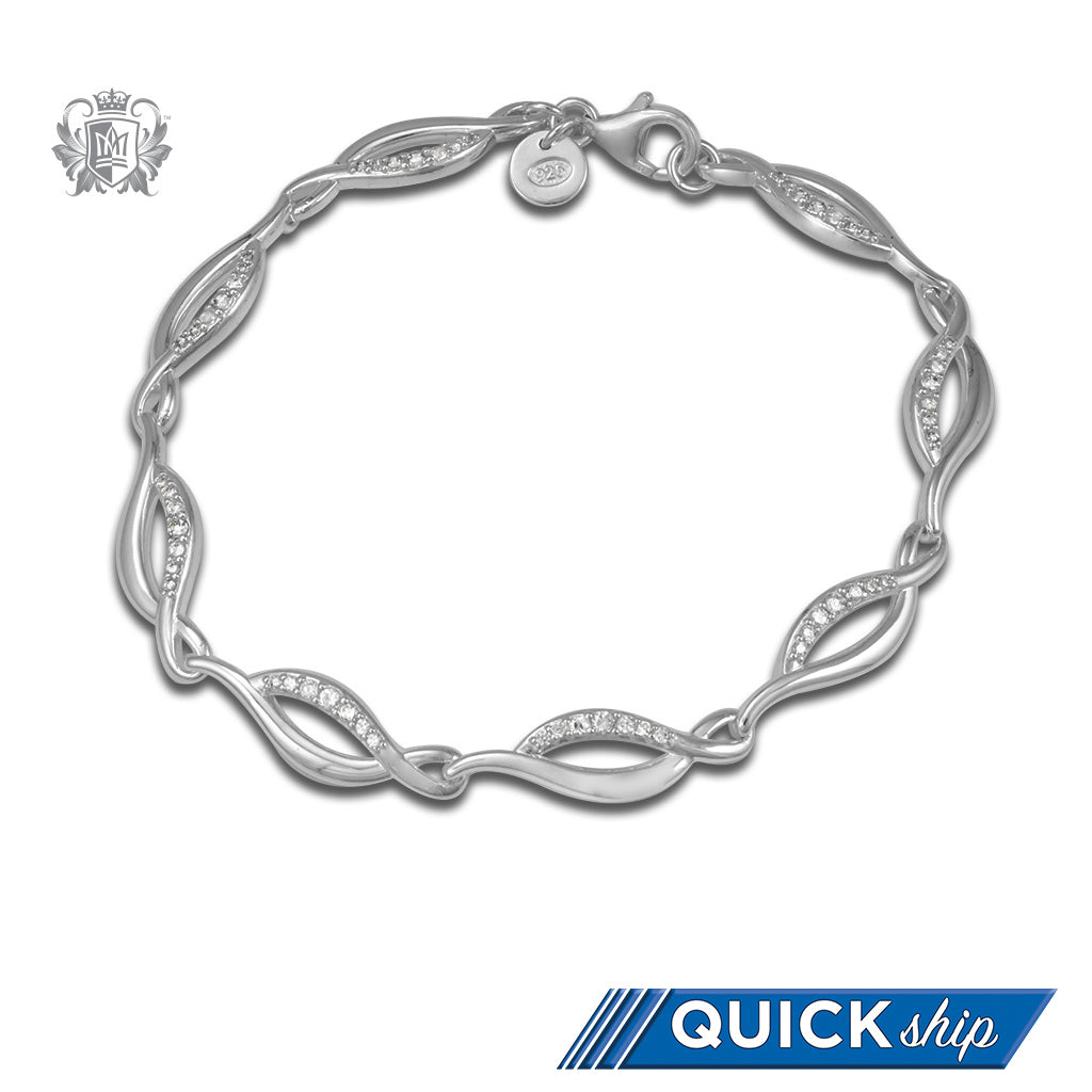 Quick Ship Oval Flow Link Bracelet