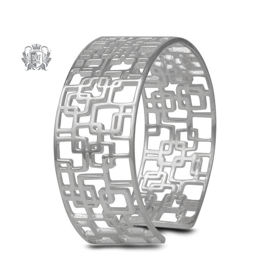 Retro Pattern Bangle - Metalsmiths Sterling™ Canada