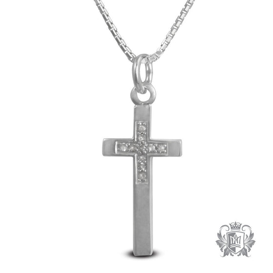Diamond Cross Pendant - 18 inch chain Gemstone Pendants - 1
