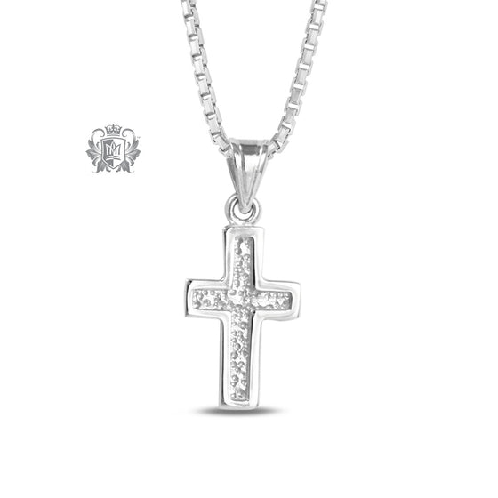 Small Ridged Cross - 18 inch chain Pendants - 1