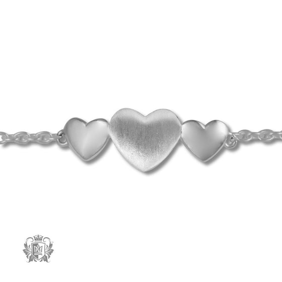 Three Hearts Anklet -  Anklet - 2